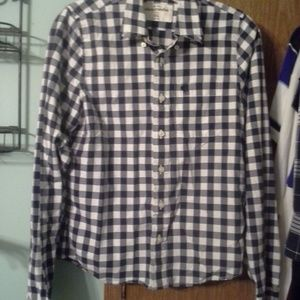 Aerocrombie boys button down shirt size xl